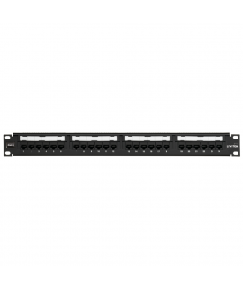 Patch Panel Cat6 Negro Estilo 110 24 Puertos, 1UR