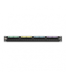 Patch Panel Cat5e Negro Estilo 110 24 Puertos, 1UR