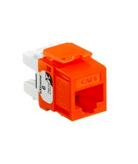 Jack Cat6 Naranja Quickport