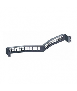 Patch Panel Negro Angulado Vacio Profundo 24 Puertos, 1UR Quickport